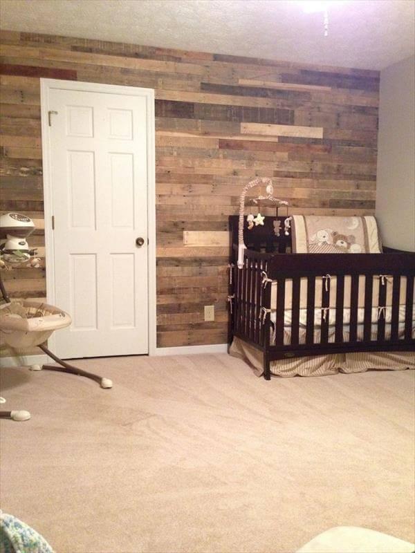 16 DIY Wood Pallet Wall Ideas | Pallet Furniture DIY on Pallet Room Ideas  id=41713