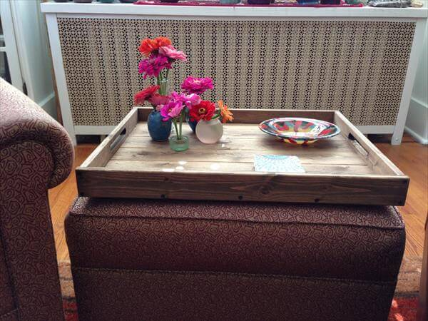 Coffee Table Upholstered Storage Ottoman