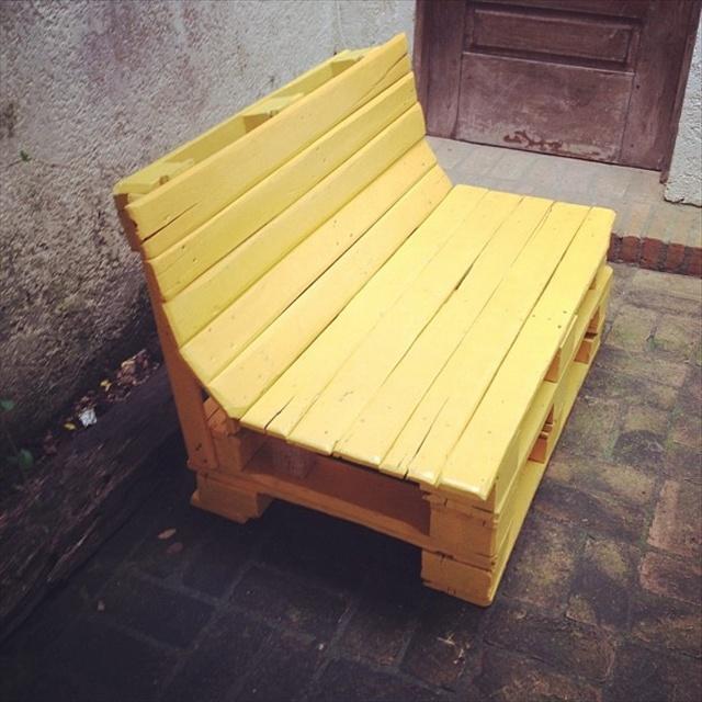 10 Pallet Bench for Your Backyard | Pallet Furniture Plans