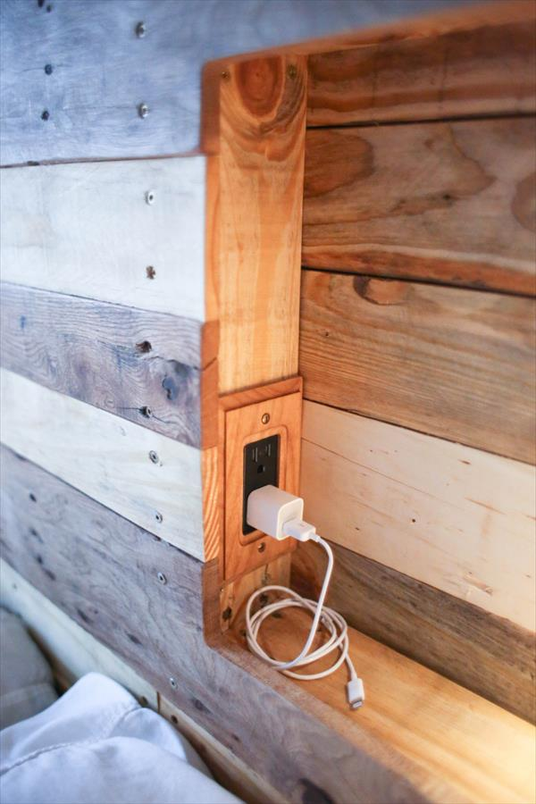 DIY Pallet Headboard Pallet Furniture Plans