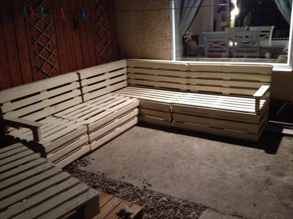 diy pallet sectional sofa and table