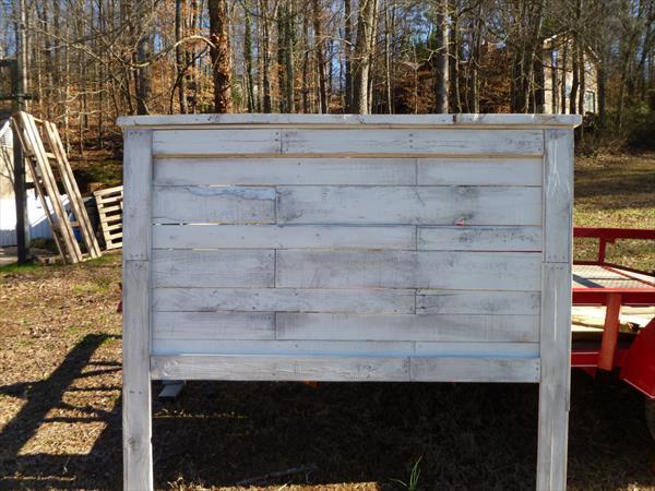 diy pallet queen size headboard   pallet furniture plans