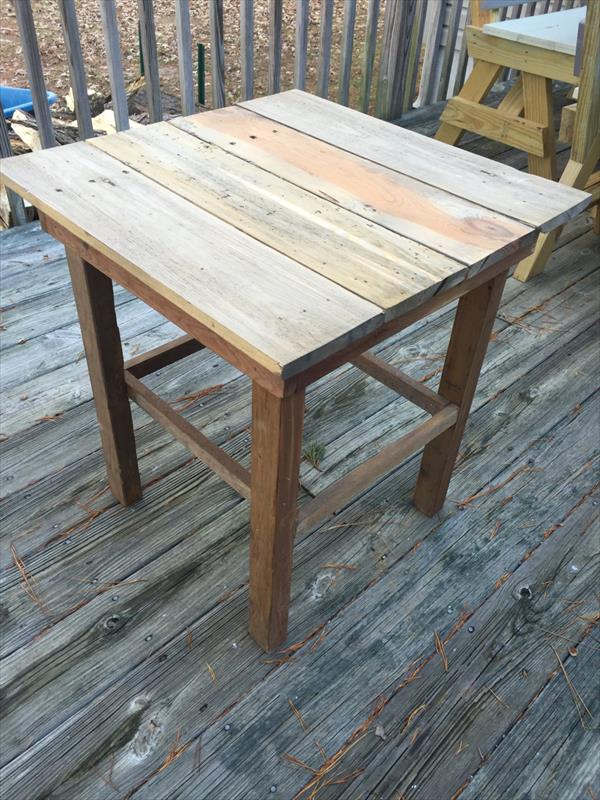 Diy Pallet End Table Side Table Or Nightstand Pallet