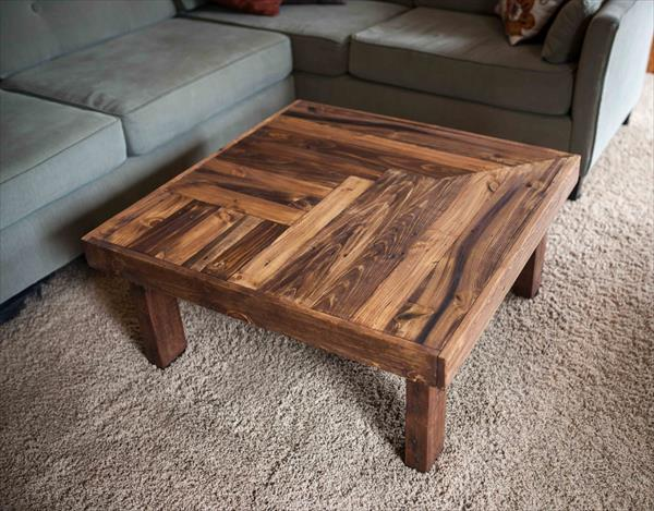 Pallet Wooden Coffee Table Design | Pallet Furniture Plans on Pallet Design  id=53322