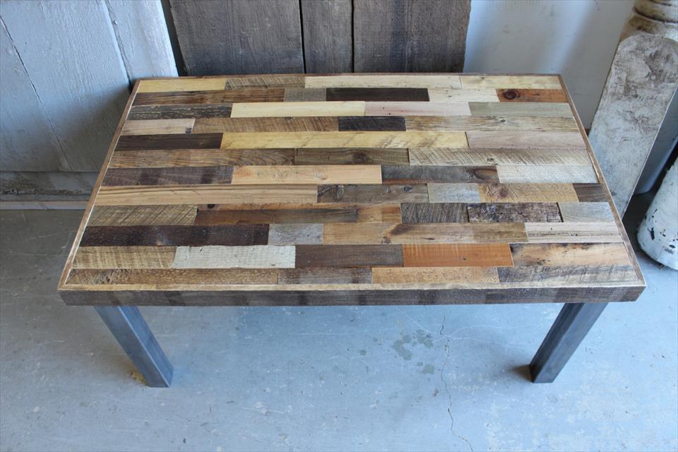diy pallet reclaimed coffee table