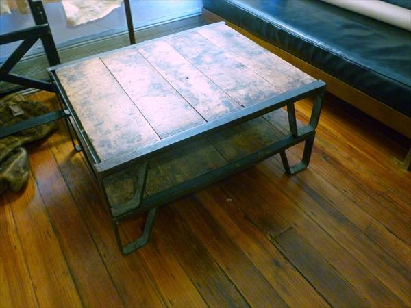 Industrial Pallet Coffee Table Pallet Furniture Plans - Vintage Metal Patio Furniture