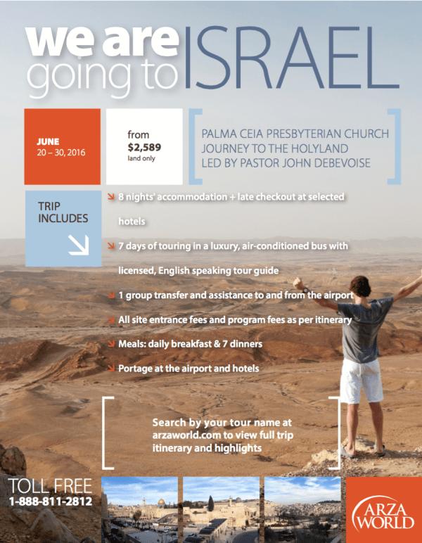 Palma Ceia Presbyterian Israel Trip