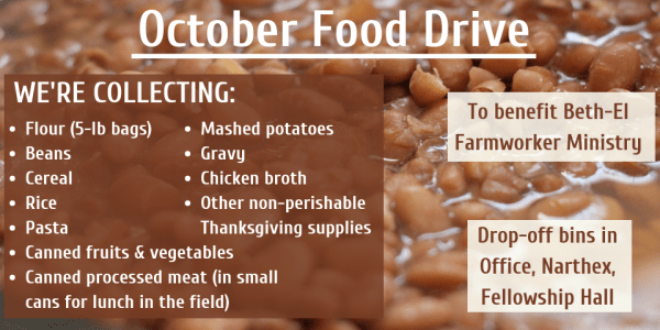 Food Drive for Beth-El Farmworker Ministry