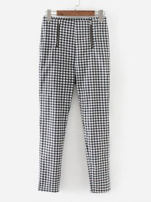 SheIn Gingham Ankle Pants