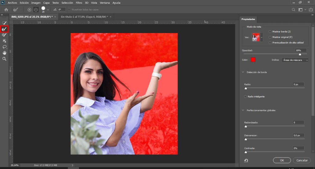 quitar fondo en photoshop