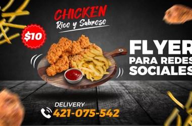 Photoshop Tutorial 🍗 Flyer Pollo Frito Chicken