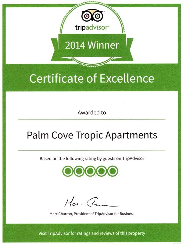 TripAdvisor Award 2014