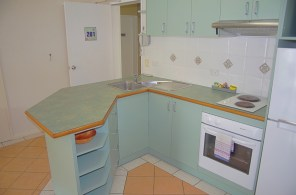 Kitchen 1 bedroom apartment