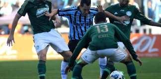 Grêmio e Palmeiras ficam no 0 a 0.
