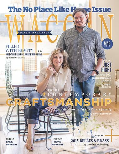 Palmer Davis Design featured in March 2015 Wacoan