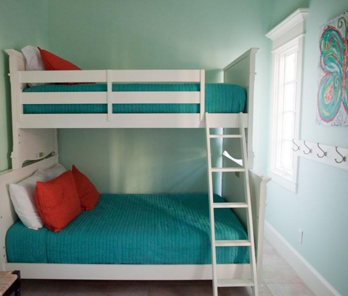 Nautical bunk beds - seafoam green and blue
