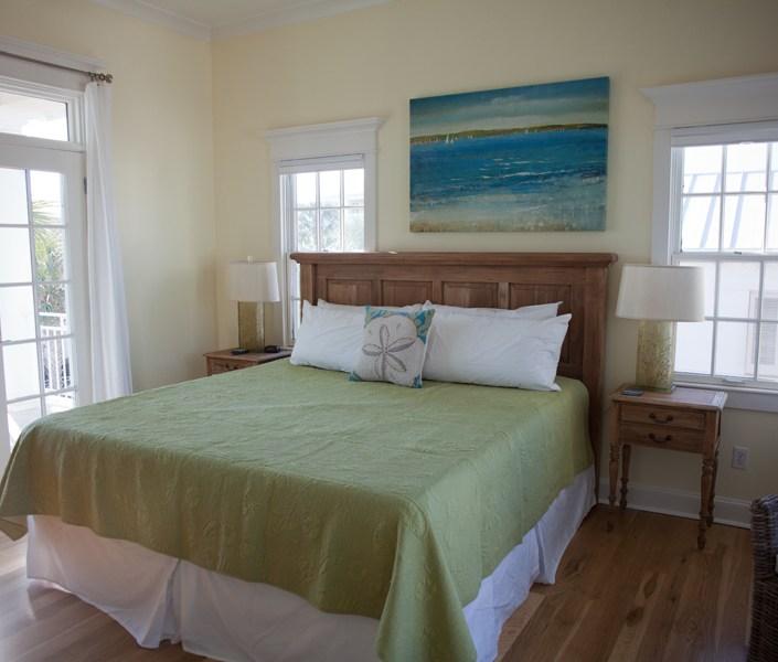 Generations beach house bedroom green