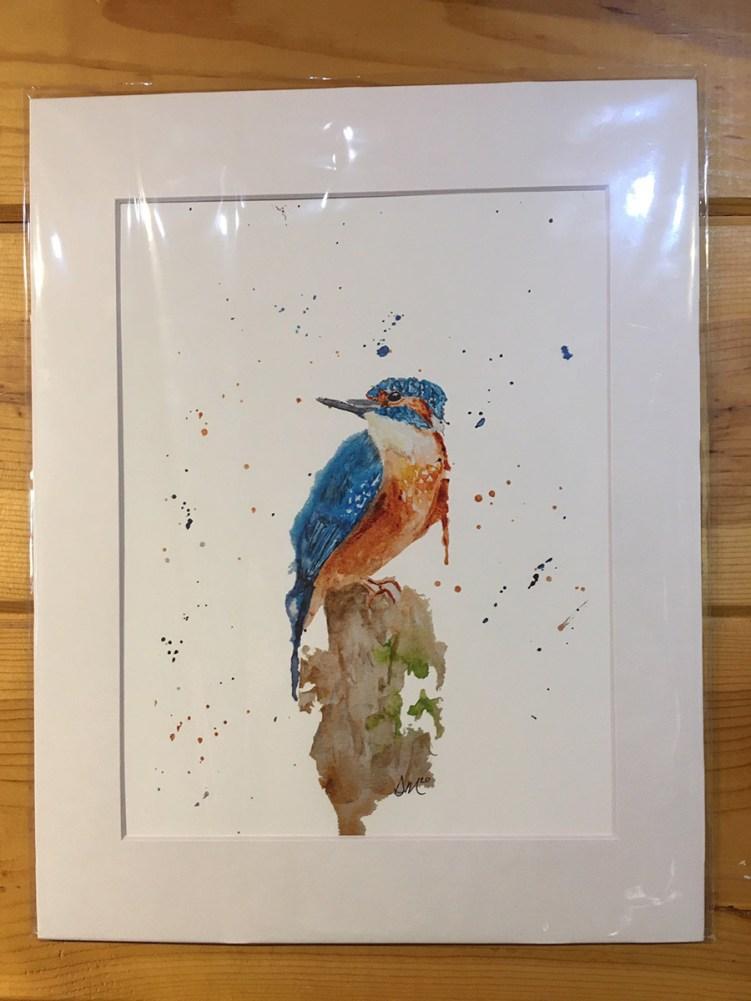 Danielle Mettling Artist of the Week kingfisher print