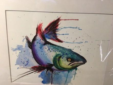 Danielle Mettling Artist of the Week salmon print