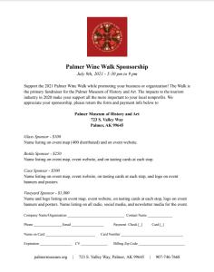 Wine Walk Sponsor Application