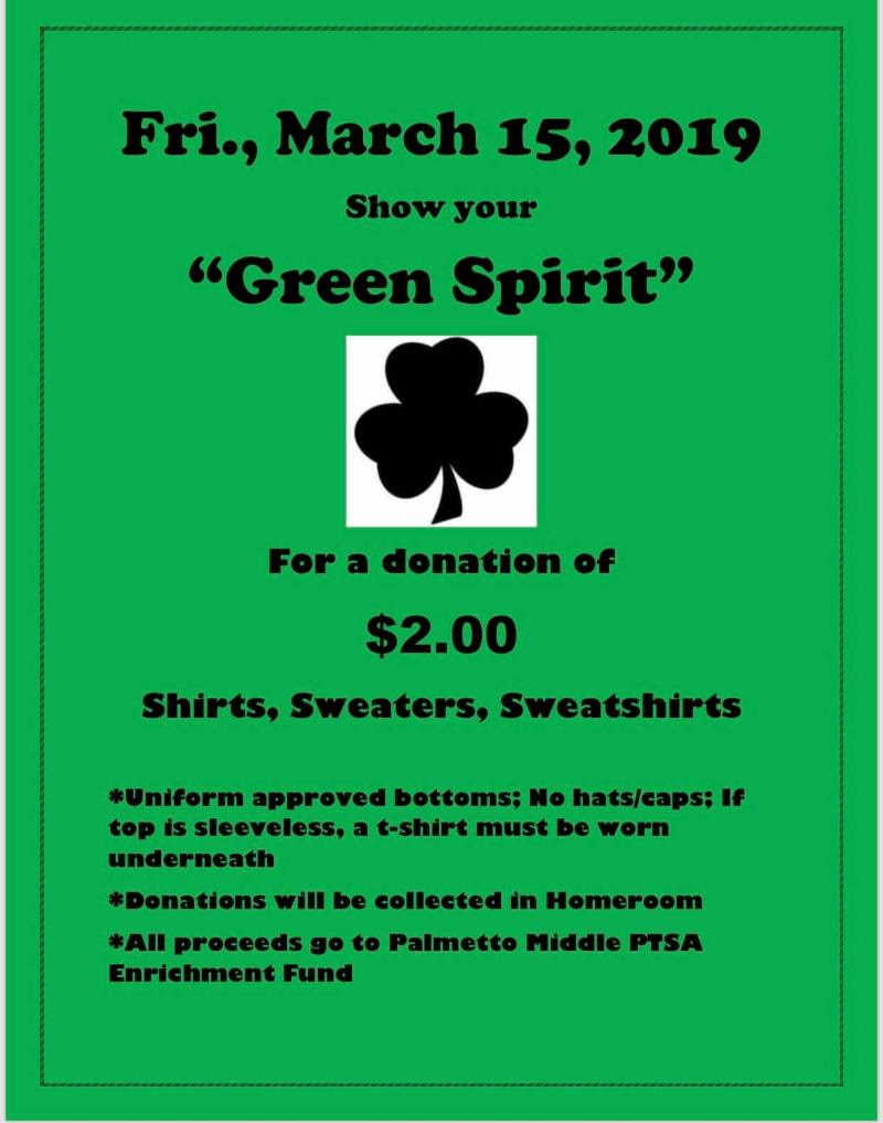 Green Spirit Day Flyer