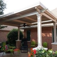 Add a freestanding louvered patio cover over your deck or concrete pad for rain and sun protection. Spartanburg SC Homeowners love their awning cover.