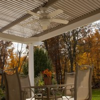 The American Louvered Roof Patio Cover opens and closes by a handheld remote. Open partially to allow hot air and smoke from a grill to escape. Hendersonville NC homeowners love this new patio cover that closes. Call us for a free awning quote.