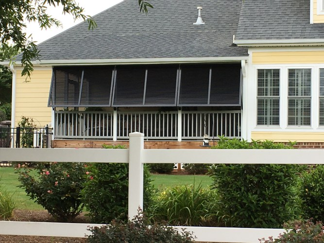 Bahama Shutters Provide Privacy for Porches in Simpsonville SC