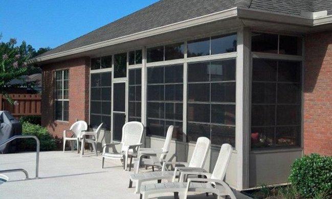 Eze-Breeze porch enclosure with kick-plate