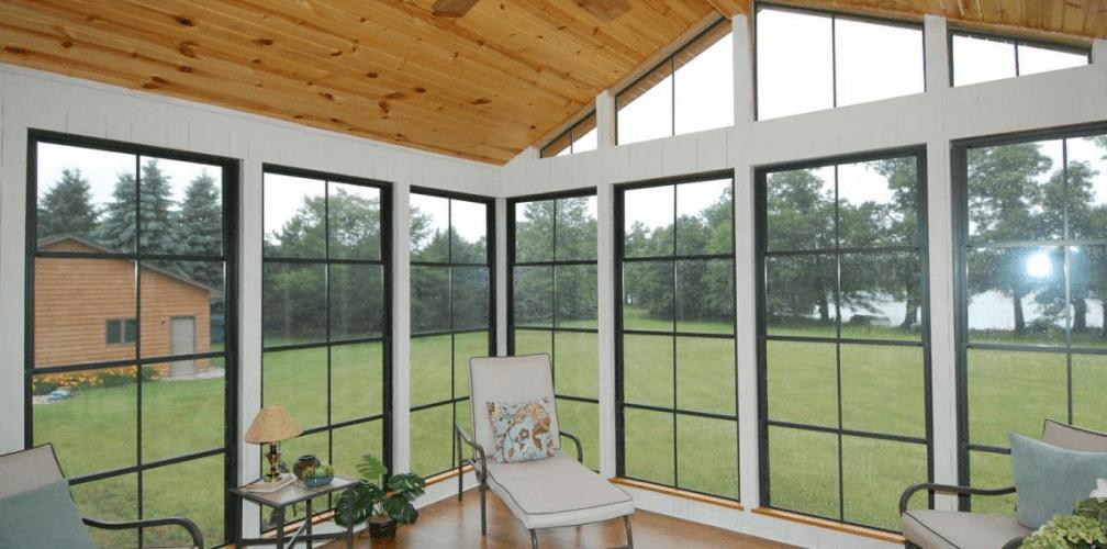Eze-Breeze ceiling to floor views porch enclosure