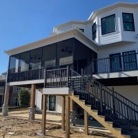 Custom Built Home Greenwood SC Avalon Railing and Screening by Palmetto Outdoor Spaces
