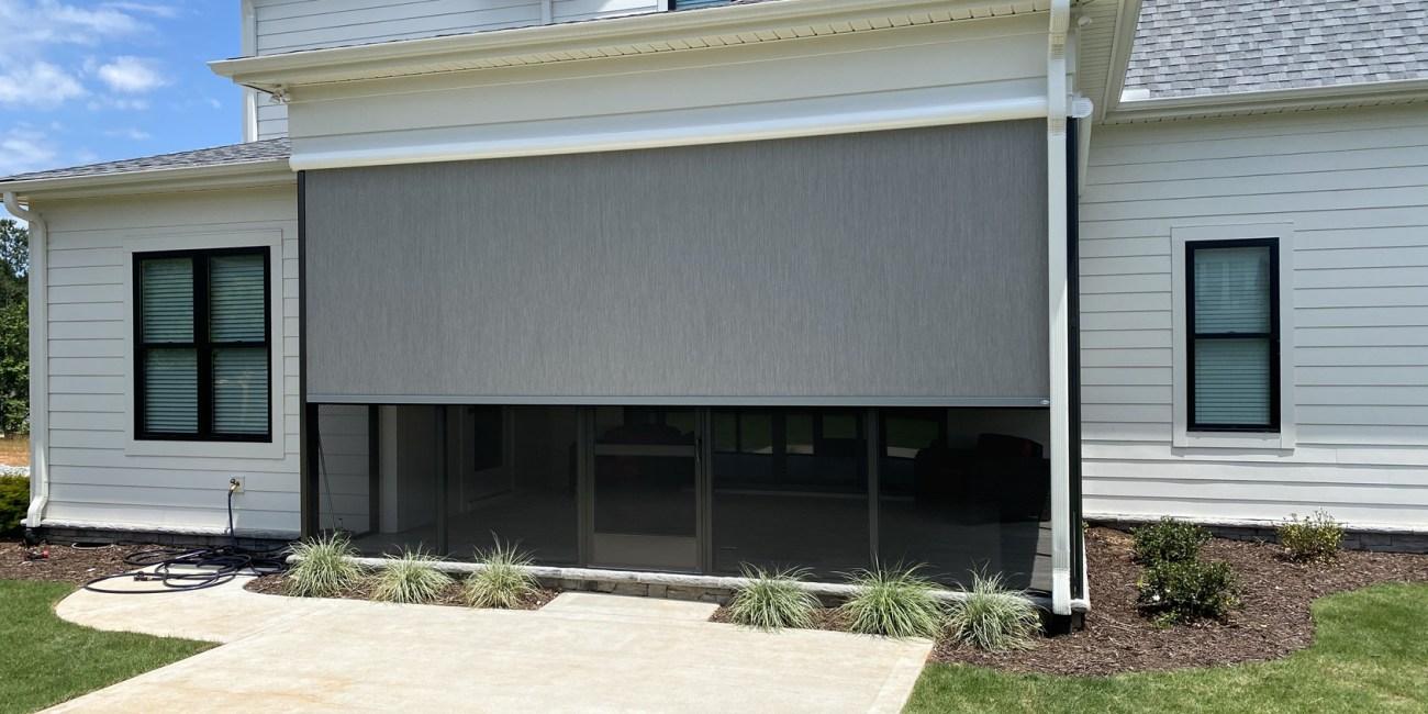 Universal Motorirzed Shade Twitchell Fabric in Simpsonville SC