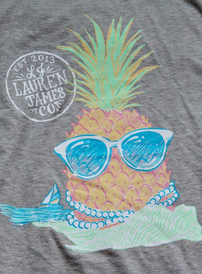 Lauren James Preppy Pineapple Sweet Tee
