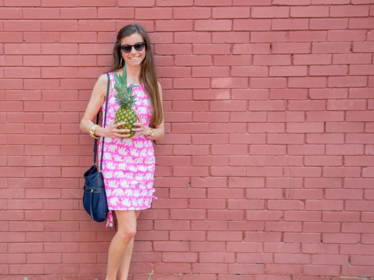 Lilly Pulitzer Delia Shift Tusk In Sun