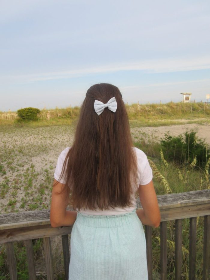 Lauren James Seersucker Hair Bow