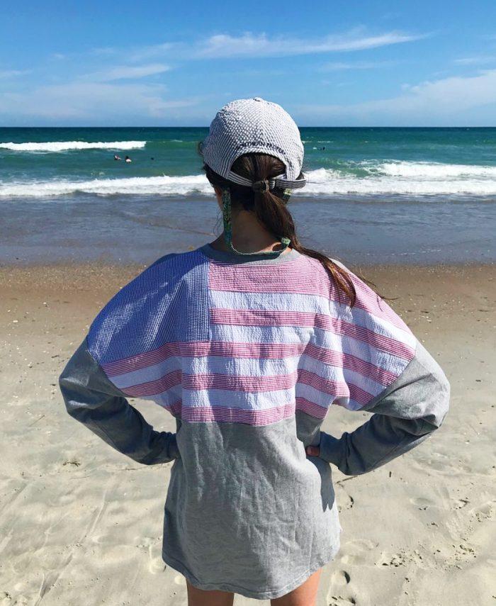 Lauren James Seersucker American Flag Beachcomber