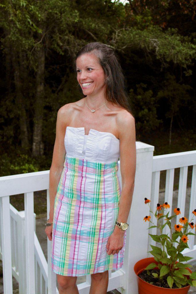 Lilly Pulitzer Plaid Seersucker Franco Dress