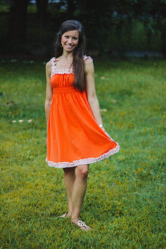 Orange game day Dress