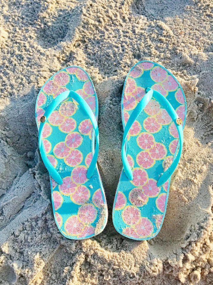 Lauren James Printed Flip Flops