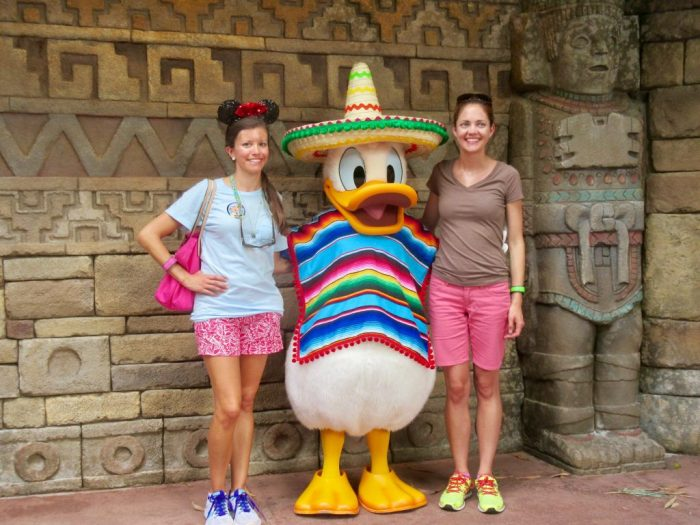 Donald Duck in Mexico Epcot
