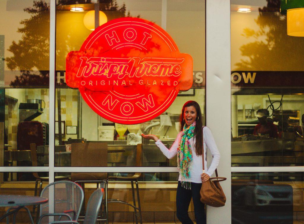 Krispy Kreme Hot and Now Sign