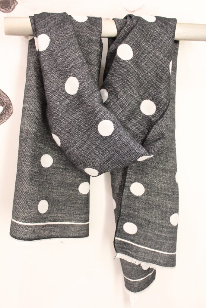Ann Taylor Polka Dot Blanket Scarf
