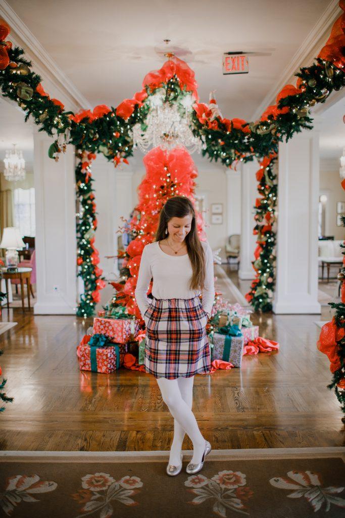 Lauren James Plaid Flannel Skirt