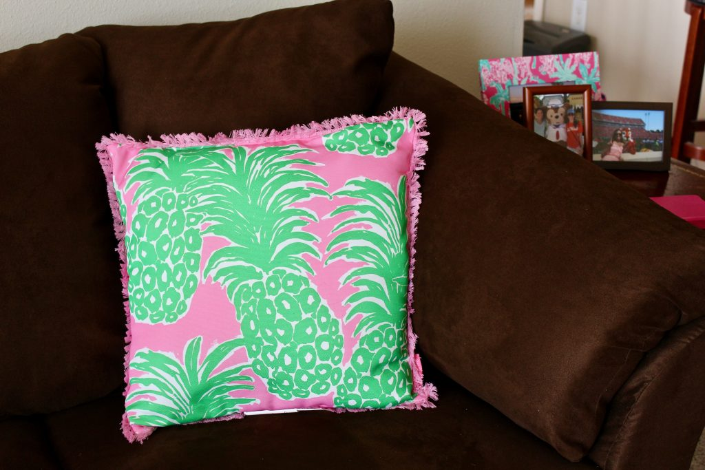 Lilly Pulitzer couch pillow