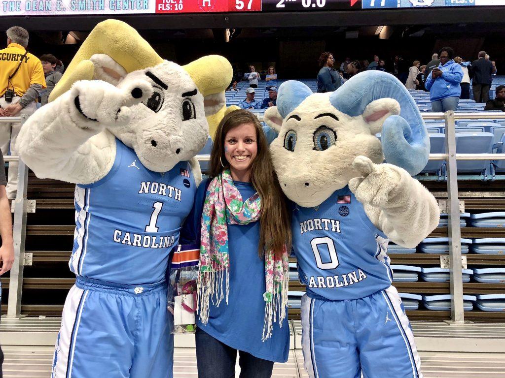 Rameses and RJ UNC mascots