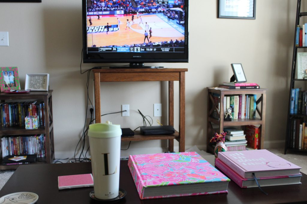 March Madness Living Room Set Up