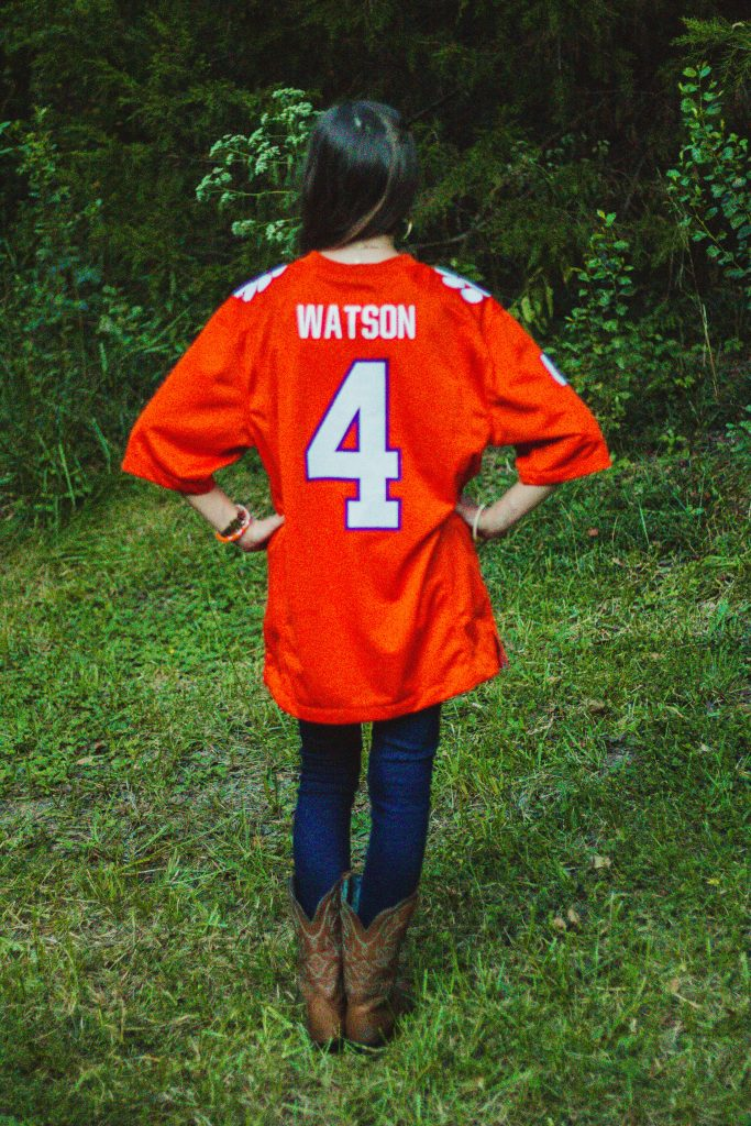 Styling a Clemson Jersey for Game Day