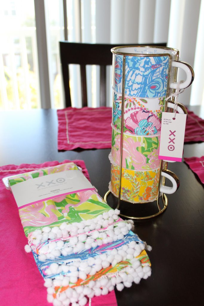 Lilly for Target napkins and mugs