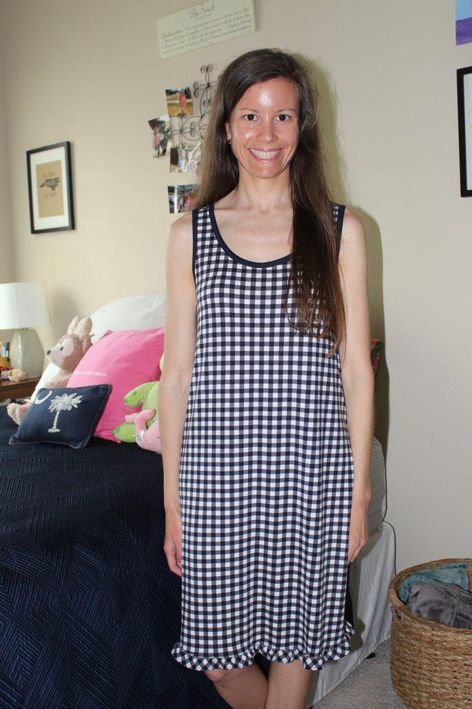 Draper James Gingham Sleeveless Nightgown
