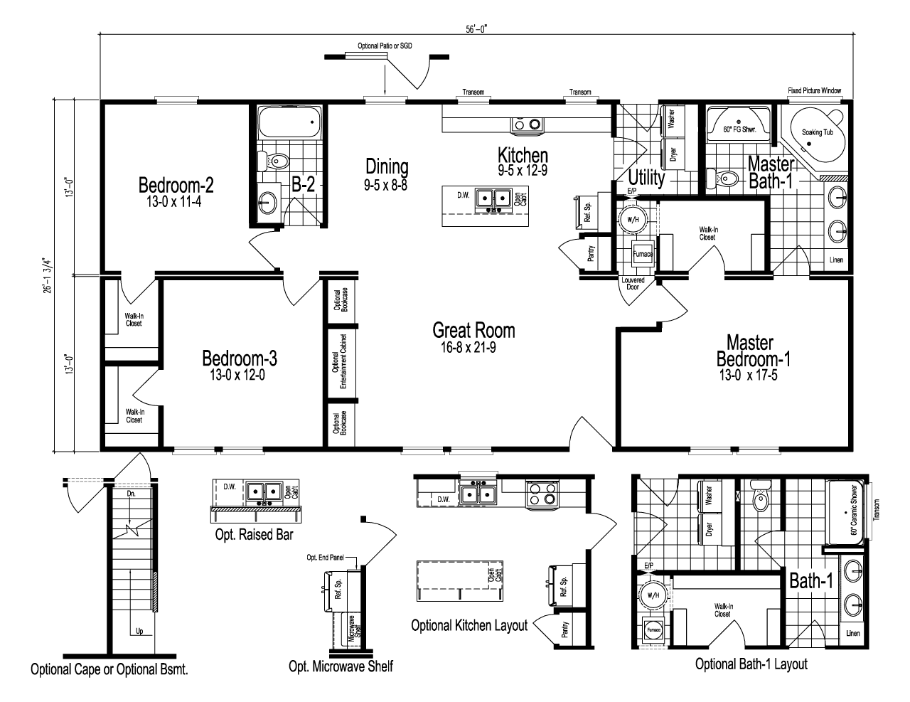 The Noble Manufactured Home Floor Plan Or Modular Floor Plans